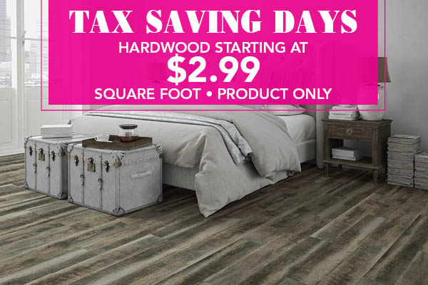Hardwood starting at $2.99 sq.ft. - Product Only