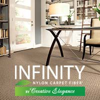 Stop by your local Floors To Go showroom today and explore all of the latest styles and colors of Infinity Nylon Carpet Fiber® by Creative Elegance today!